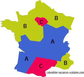 nouvelles zones scolaires en France